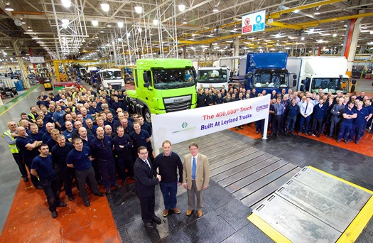 400000th Leyland truck produced